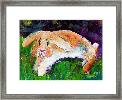 Helen's Birthday Rabbit In Glastonbury Framed Print