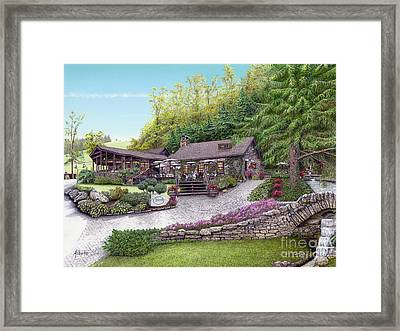 Helen's Restaurant At Seven Springs Framed Print by Albert Puskaric