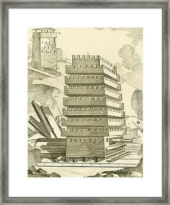 Helepolis Siege Tower, 305 Bc Framed Print
