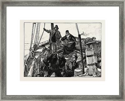 Helga Took Me By The Arm Framed Print by Overend, William Heysham (1851-1898), British