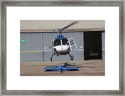 Heli Landing Framed Print by Paul Job