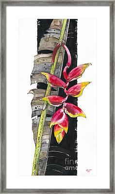 Heliconia 03 Elena Yakubovich Framed Print by Elena Yakubovich