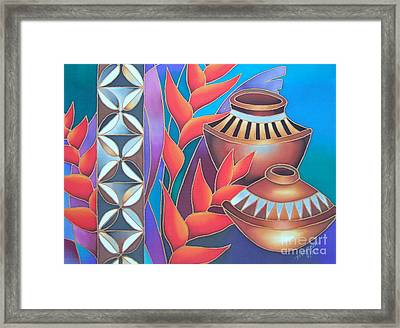 Heliconia With Pots Framed Print