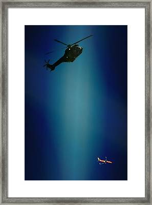Helicopter Blues Framed Print by Paul Job