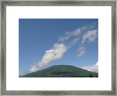 Helicopter Cloud Framed Print by Mavis Reid Nugent