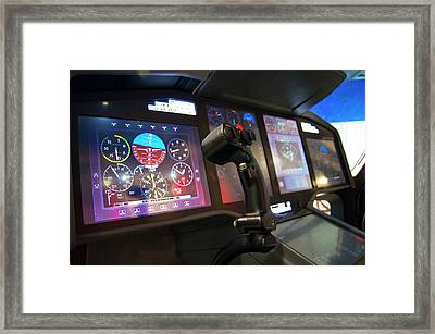 Helicopter Control Stick Framed Print by Mark Williamson