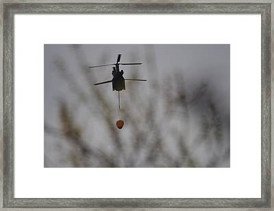 Helicopter Fire Intervention 1 Framed Print by SC Heffner