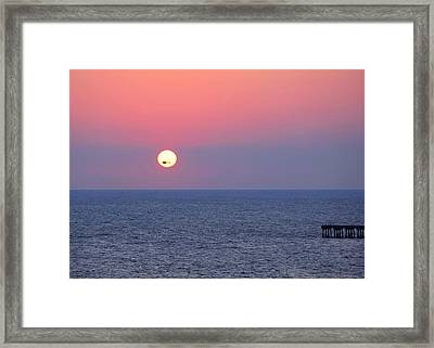 Helicopter In The Sun Framed Print by Elizabeth Budd