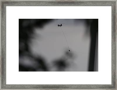 Helicopter Intervention 2 Framed Print by SC Heffner