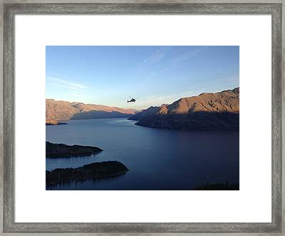Helicopter Framed Print by Ron Torborg