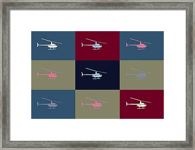 Helicopter  Framed Print by Tommytechno Sweden