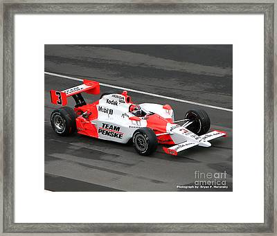 Helio Castroneves Indy Framed Print