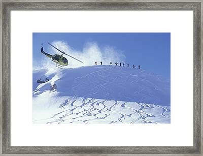 Heliskiing, Whistler, Bc, Canada Framed Print by Insight Photography