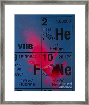 Helium-neon Elements As Laser Framed Print