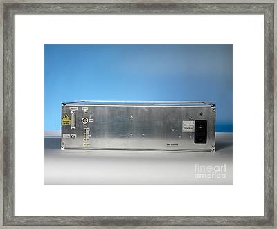 Helium-neon Laser Sockets Framed Print by Andrew Brookes, National Physical Laboratory