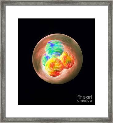 Helium Nucleus Framed Print