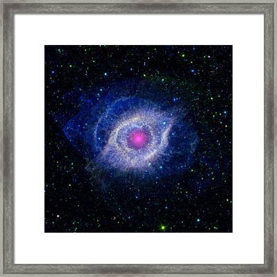 Helix Nebula, Composite Image Framed Print
