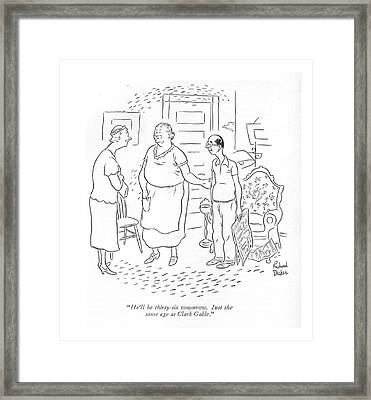 He'll Be Thirty-six Tomorrow. Just The Same Age Framed Print by Richard Decker