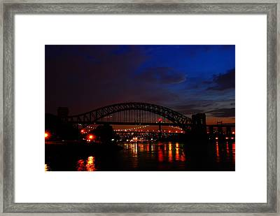 Hell Gate At Night Framed Print by Jim Poulos