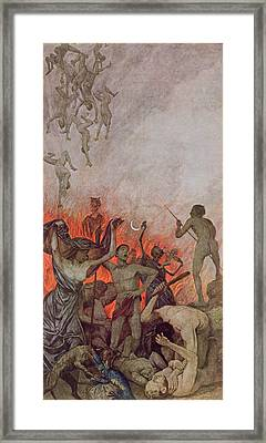 Hell Framed Print by Hans Thoma