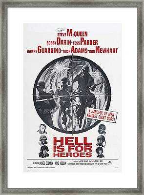 Hell Is For Heroes, Us Poster, Left Framed Print