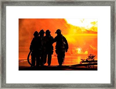 Hell Is For Hero's Framed Print by Sennie Pierson