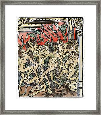 Hell Seven Deadly Sins Framed Print by Granger