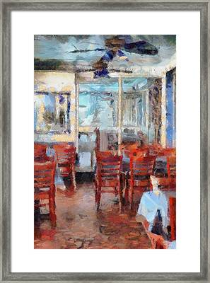 Hellas Restaurant And Bakery  Framed Print by L Wright