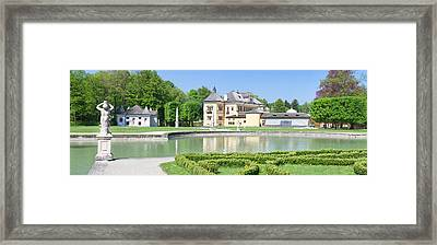 Hellbrunn Palace And Formal Garden Framed Print by Panoramic Images