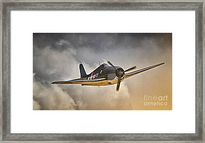 Hellcat Dawn Patrol Framed Print by Gus McCrea