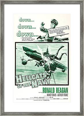 Hellcats Of The Navy, Us Poster Art Framed Print by Everett