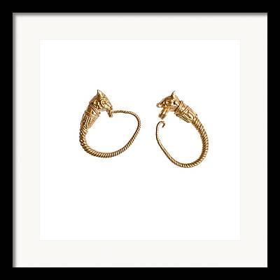 Hellenistic Earrings Framed Prints