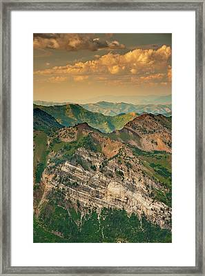 Hellgate Cliffs From Top Of Snowbird Framed Print