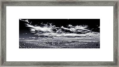Hellhole Bend - Bw Framed Print by Chris Bordeleau