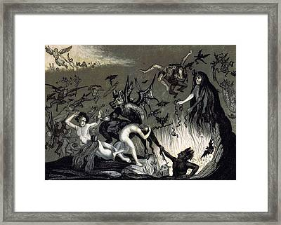 Hellmouth, 1834 Framed Print by British Library