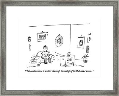 Hello, And Welcome To Another Edition Framed Print by Michael Maslin