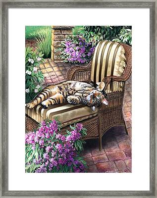 Hello From A Kitty Framed Print by Regina Femrite