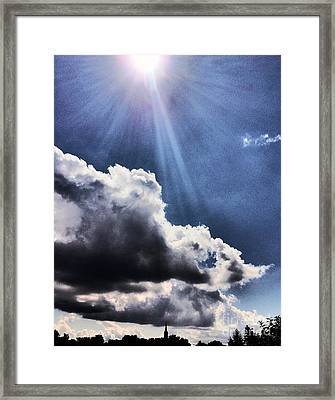 Hello From Luxemburg Framed Print