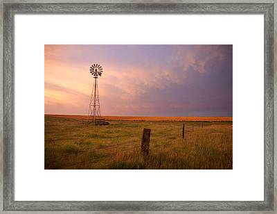 Hello Kansas Framed Print