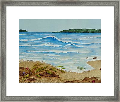 Framed Print featuring the painting Hello? by Katherine Young-Beck