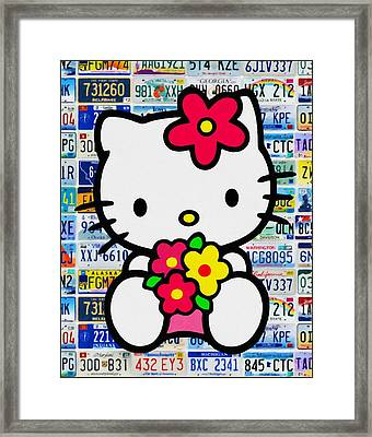Hello Kitty Framed Print by Lanjee Chee