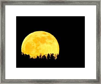 Hello Moon Framed Print by Feva  Fotos