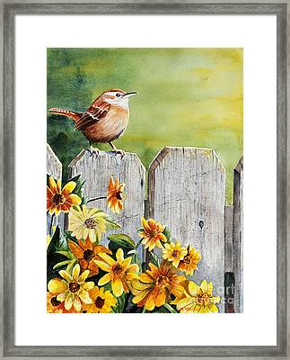Hello Morning Framed Print