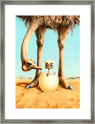 Hello Mum Framed Print by Andrew Farley