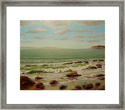Hello Sea Framed Print by Svetla Dimitrova