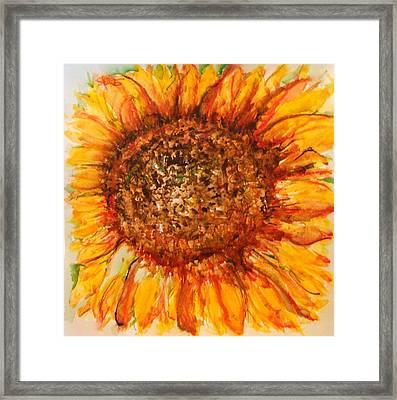Hello Sunflower Framed Print