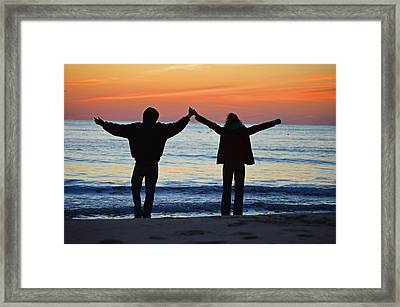 Hello Sunrise Framed Print