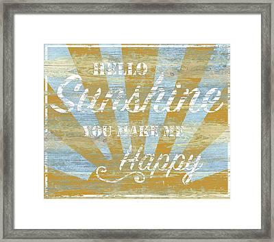 Hello Sunshine Framed Print by P.s. Art Studios