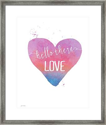 Hello There Love Framed Print by Jo Moulton