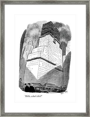 Hello, What's This? Framed Print by Robert J. Day